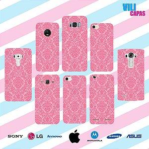 Capinha para celular - Arabesco Rosa