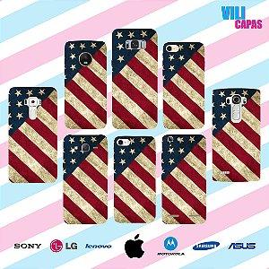 Capinha para celular - Bandeira EUA