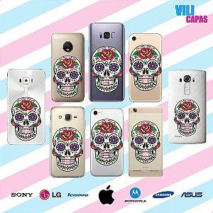 Capinha para celular - Caveira Mexicana