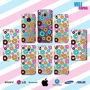 Capinha para celular - Donuts