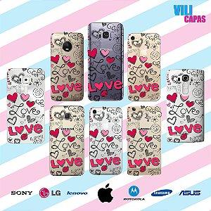 Capinha para celular - Love e Traços