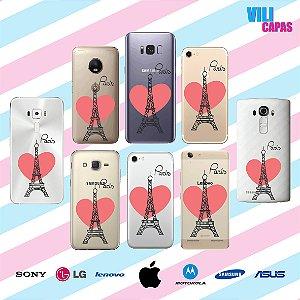 Capinha para celular - Love Paris