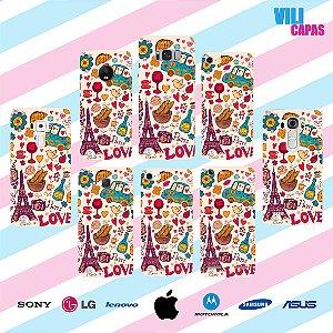 Capinha para celular - Love Paris 2