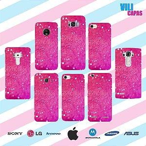 Capinha para celular - Brilho Rosa