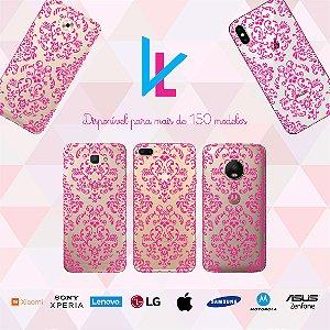 Capinha para celular - Renda rosa