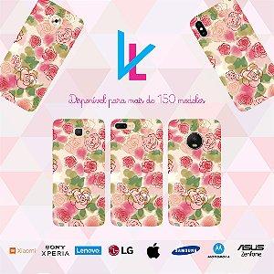 Capinha para celular - Flores rosas
