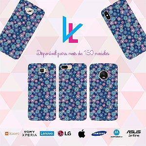 Capinha para celular - Flores Azuis 2