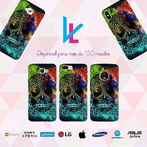 Capinha para celular - Caveira colorida