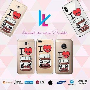 Capinha para celular - I Love Nutella