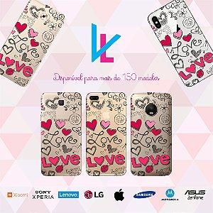 Capinha para celular - Love Traços