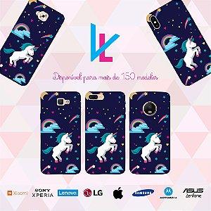 Capinha para celular - Unicornio universo