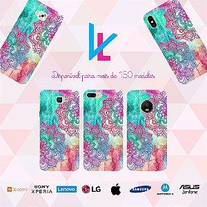 Capinha para celular - Flor Colorida 2