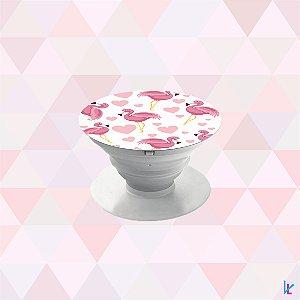 Pop Socket - Flamingos e Corações