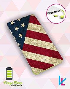 Carregador Portátil - Bandeira EUA