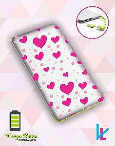 Carregador Portátil - Corações rosa 2
