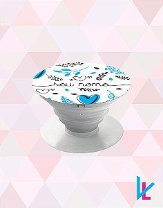 Pop Socket - Flores Azuis com nome