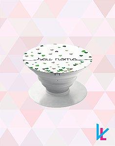 Pop Socket - Chuva de corações verde com nome