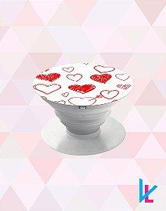 Pop Socket - Corações vermelho
