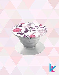 Pop Socket - Flores Roxas e rosas