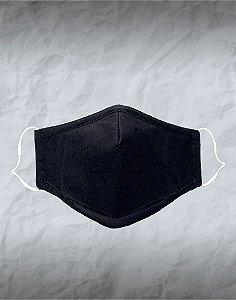 Máscara de Tecido Personalizada Preta Lavável Reutilizável