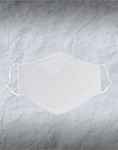 Máscara de Tecido Poliéster Personalizada Branca Lavável Reutilizável