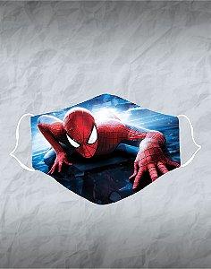 Máscara de Tecido Poliéster Personalizada Lavável Reutilizável - Homem Aranha