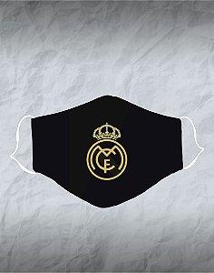 Máscara de Tecido Poliéster Personalizada Lavável Reutilizável - Real Madrid