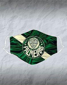 Máscara de Tecido Poliéster Personalizada Lavável Reutilizável - Palmeiras