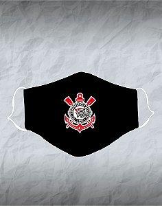 Máscara de Tecido Poliéster Personalizada Lavável Reutilizável - Corinthians