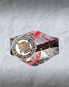 Máscara de Tecido Poliéster Personalizada Lavável Reutilizável - Corinthians 2