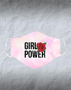Máscara de Tecido Poliéster Personalizada Lavável Reutilizável - Girl Power
