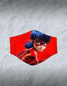 Máscara de Tecido Poliéster Personalizada Lavável Reutilizável - Ladybug