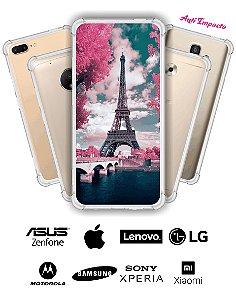Capinha Anti Impacto - Paris rosa