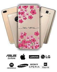 Capinha - Flores rosas diversas com nome