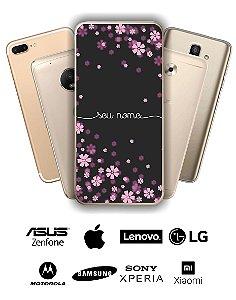 Capinha - Flores lilás com nome