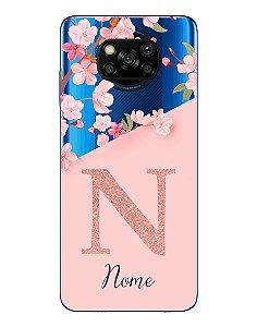 Capinha Personalizada para Xiaomi Poco X3 Anti Impacto - Delicate Flowers Transparente