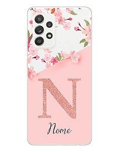 Capinha Personalizada para Samsung A52 Anti Impacto - Delicate Flowers Transparente