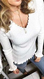 Blusa Tricô Canelado Yaber