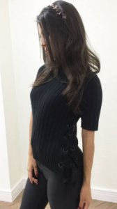 Blusa Tricot Ilhós Lateral