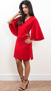 Vestido Crepe Clarice Vermelho