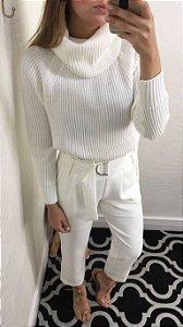 Calça Feminina Clochard Branca - Lilly