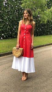 Vestido Tricoline Bicolor Kaya