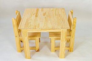 Mesa com cadeiras para atividades infantis - Natural
