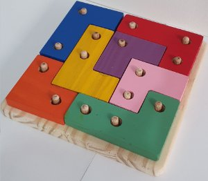Quebra-cabeça TukTuk I com de 7pçs