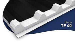 Telha Metálica Aluzinc - MODELO TP-40