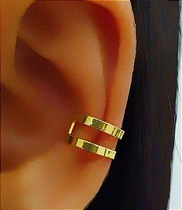 Piercing Fake 2 Fileiras Lisas Banhado em Ouro18k (SKU: 00071039)
