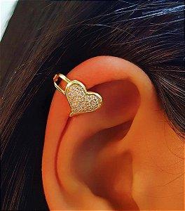Piercing Fake Coração Micro Zircônia Banhado em Ouro18k (SKU: 00071048)