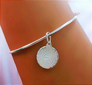 Bracelete Oval com Oração Pai Nosso em Prata 925