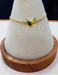 Pulseira Coração Banhada em Ouro18k