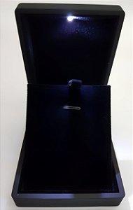 Porta Joia com LED de Acrílico Fosco Emburrachado Black